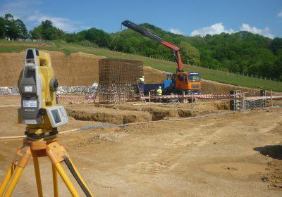 Obra -Estación de compresión de gas «Euskadour»- en Irun