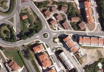 Obra de rotonda en Usurbil